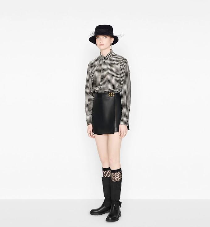 Pantalón corto de piel de Dior