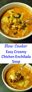 Slow Cooker Easy Creamy Chicken Enchilada Soup is Heaven sent on a cool Spring evening! - Loaded with Latin flavors and creamy chicken. - Slice of Southern