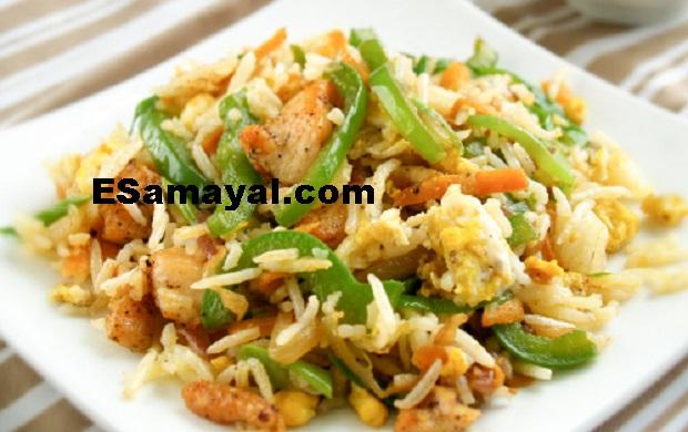 சிக்கன் பிரைட் ரைஸ் செய்வது எப்படி? / How to Make Chicken Fried Rice !