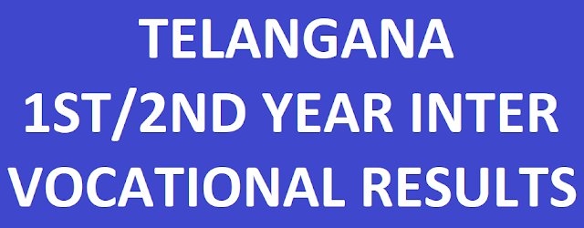 Telangana Junior/Senior Intermediate Vocational Results
