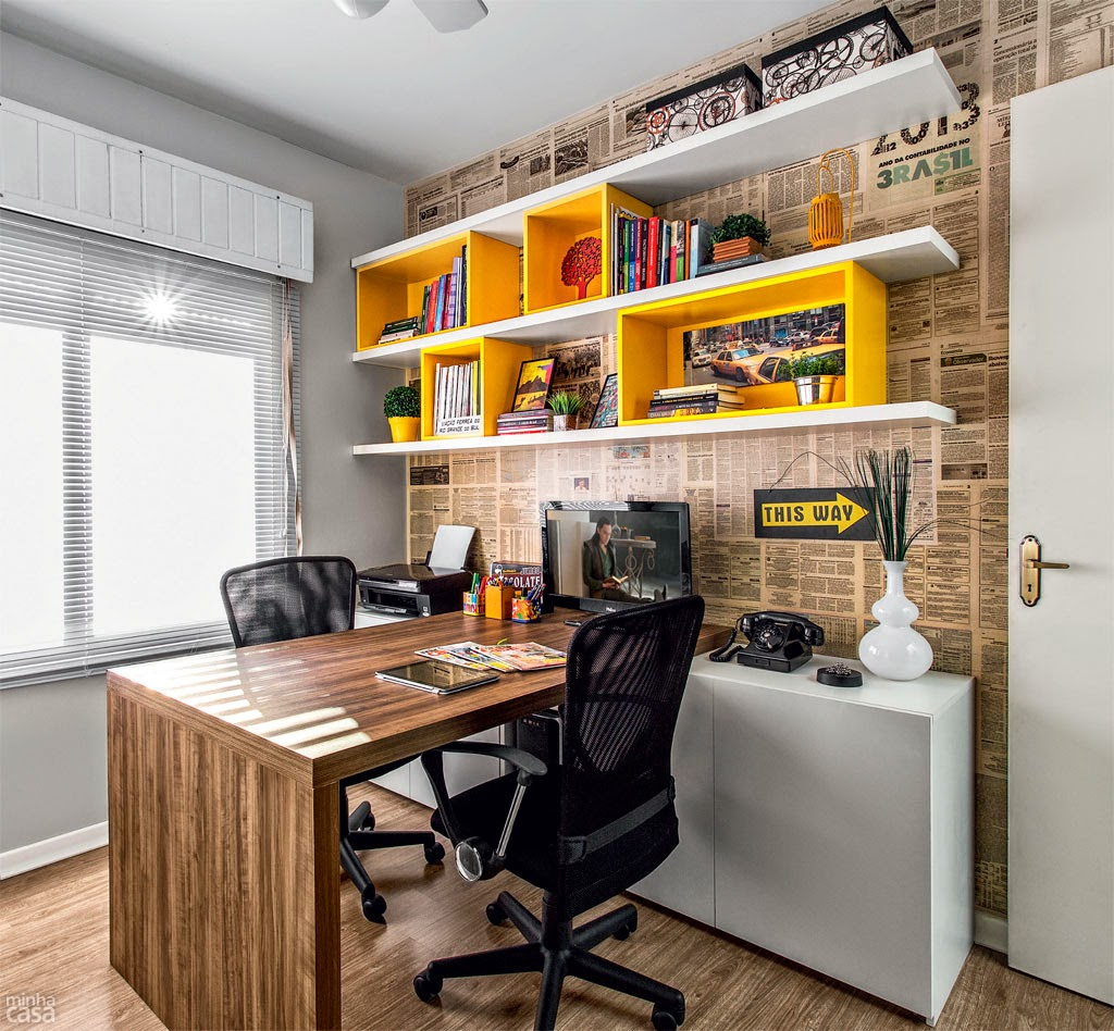 Home Office And Studio Designs: Casa Studio: Home Office Com Personalidade