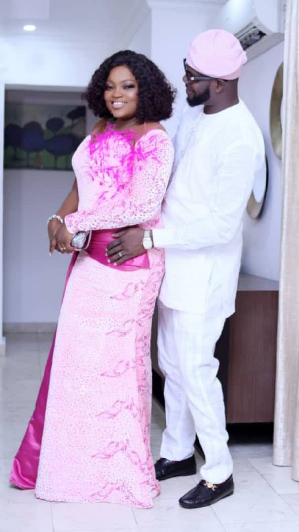 Photos: How Funke Akindele & Husband Stepped Out For Mo Abudu's Daughter's Wedding