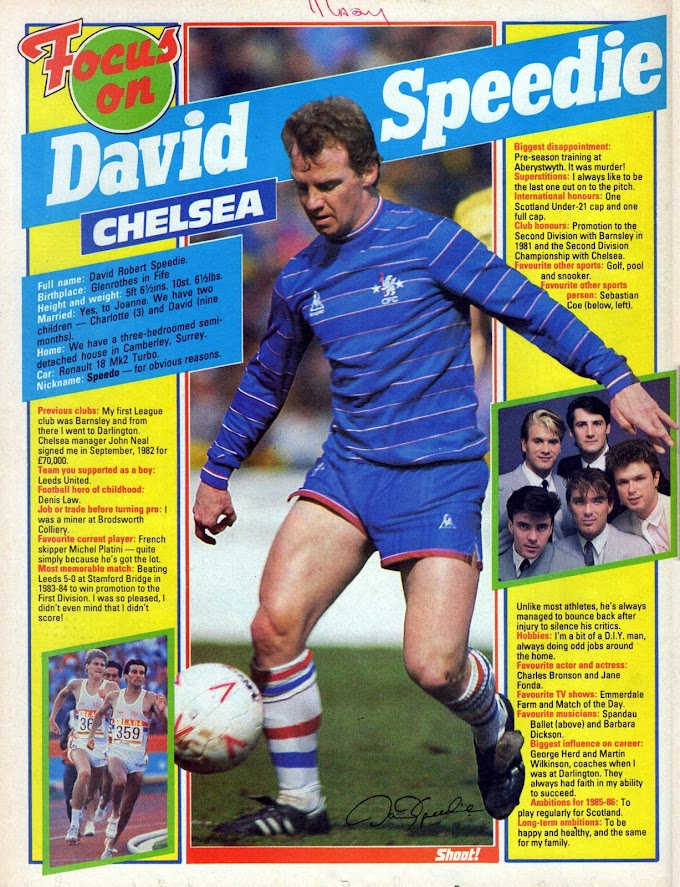 FOCUS ON. David Speedie.