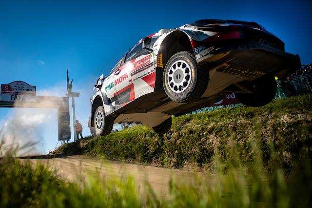Elfyn Evans winning Rally Portugal
