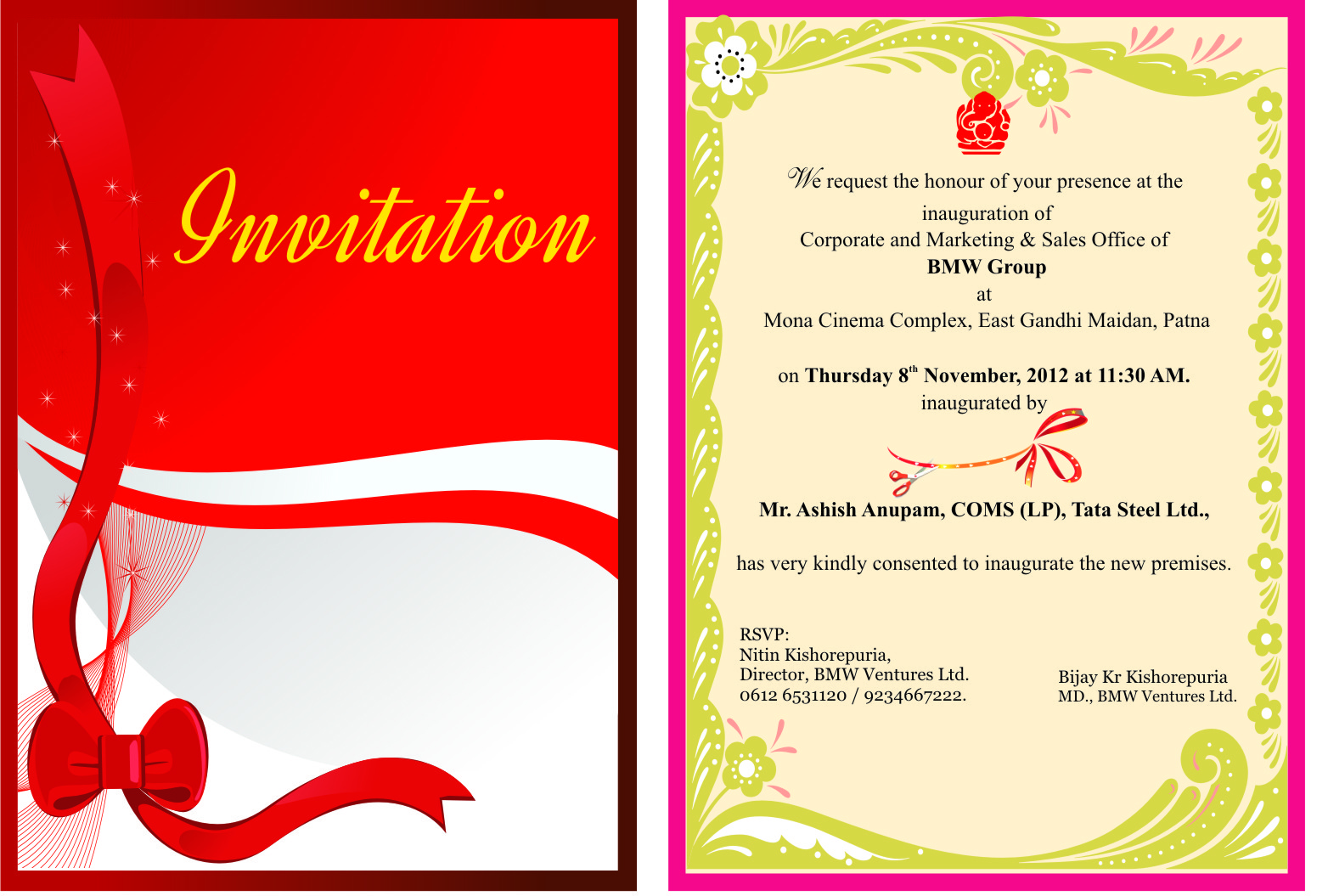 Invitation Card Design Layout