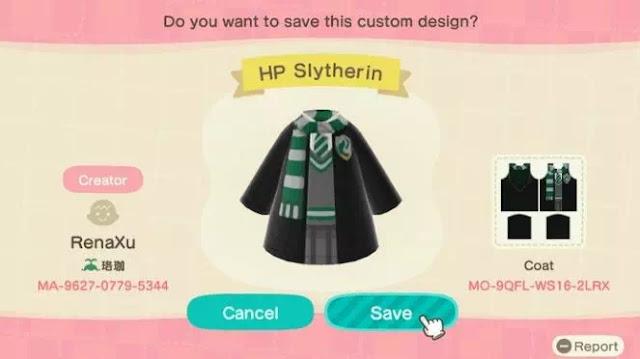 Kode Pakaian Harry Potter Animal Crossing New Horizons-11