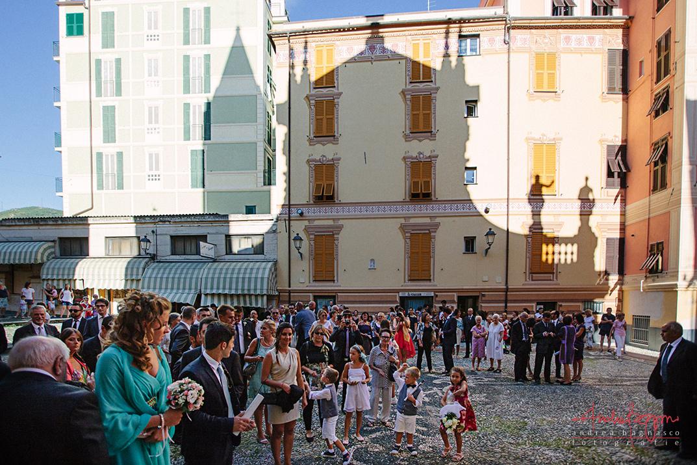 uscita sposi matrimonio Sant'Ambrogio Varazze