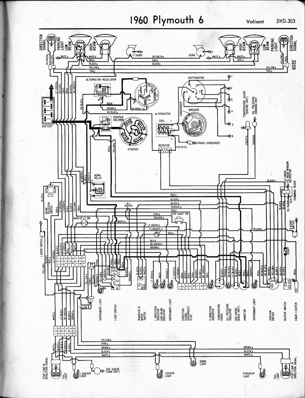Free Auto Wiring Diagram: 1960 Plymouth Valiant Wiring Diagram