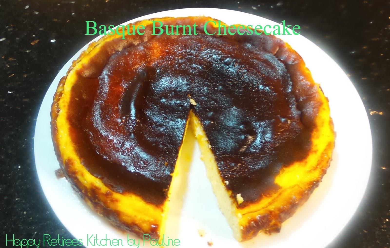 Happy Retirees Kitchen Basque Burnt Cheesecake