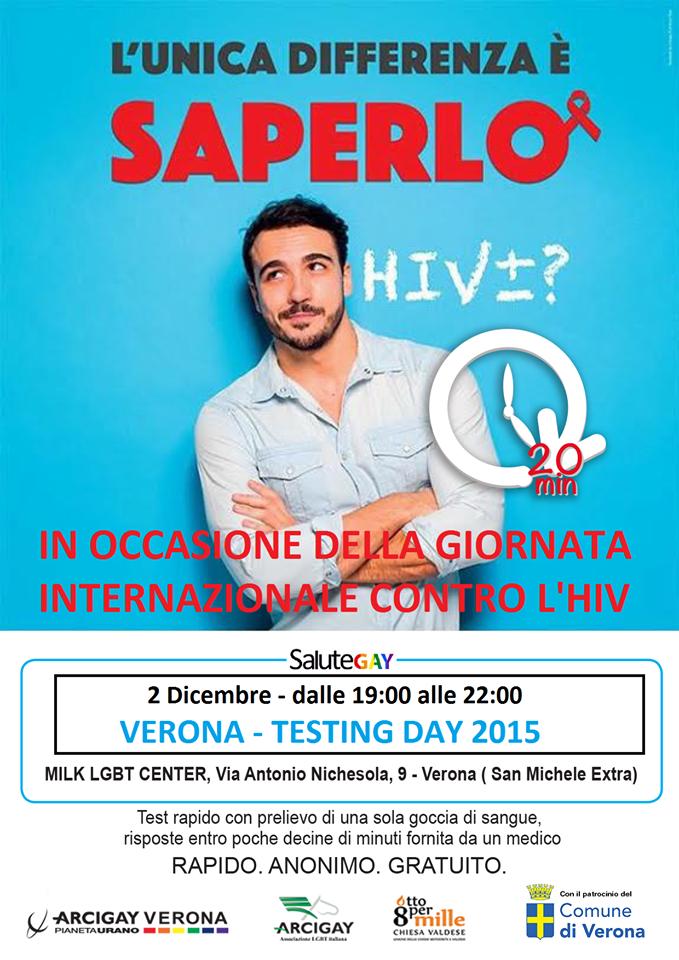 Pianeta Milk Verona: 2 Dicembre - TEST HIV - FACILE