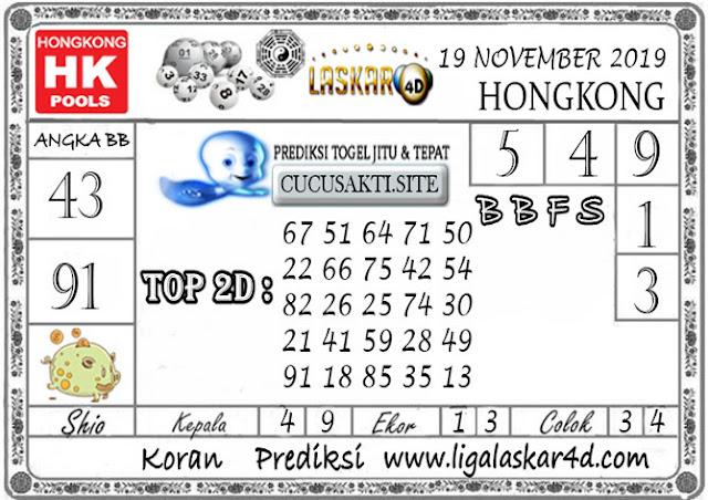 Prediksi Togel HONGKONG LASKAR4D 19 NOVEMBER 2019
