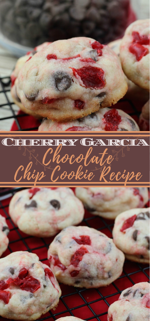 Cherry Garcia Chocolate Chip Cookie Recipe #desserts #cakerecipe #chocolate #fingerfood #easy