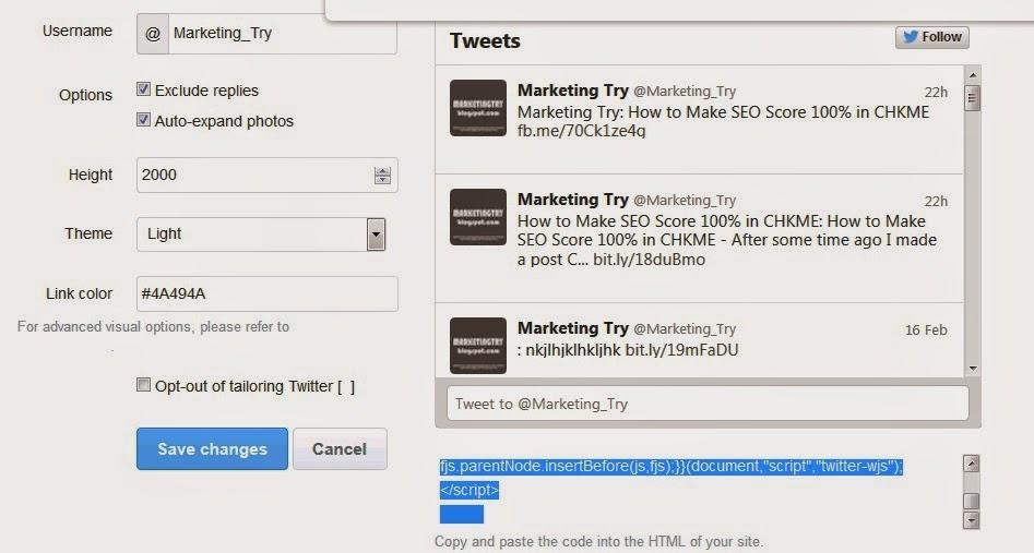 Cara Memasang Widget Twitter Timeline Di Blog