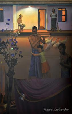 Song of the Dusk -3'-Oil on Canvas-232x146 cm-HuesnShades