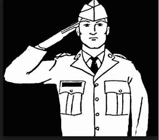 Salute dete hue Police Officer