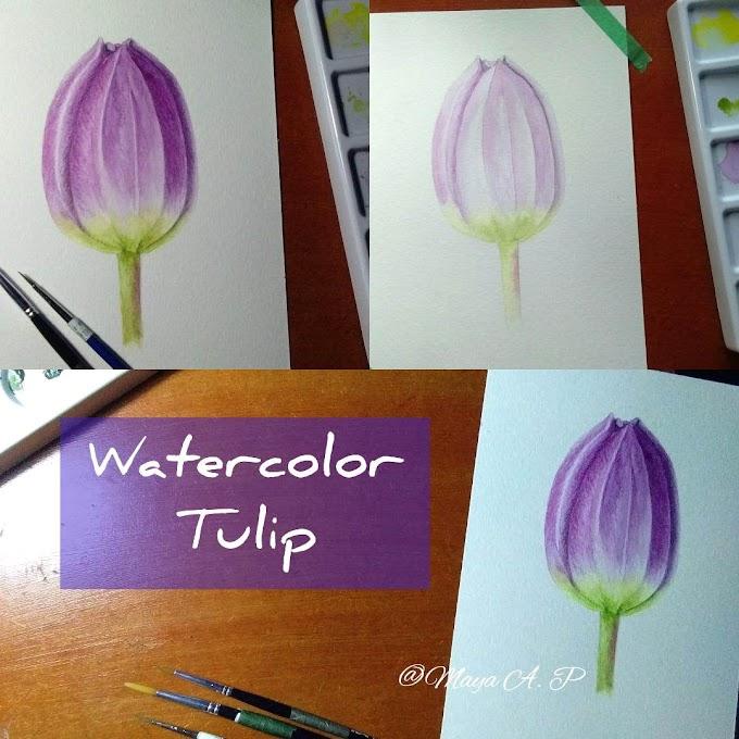 Cara Melukis Bunga Tulip