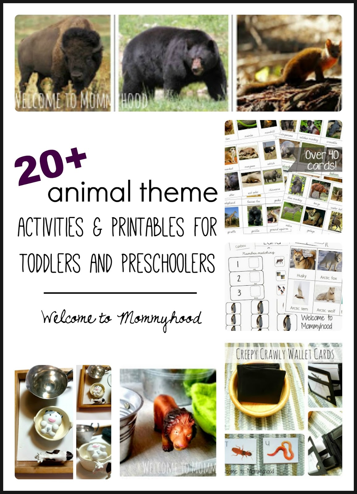 Welcome To Mommyhood 20 Montessori Inspired Animal