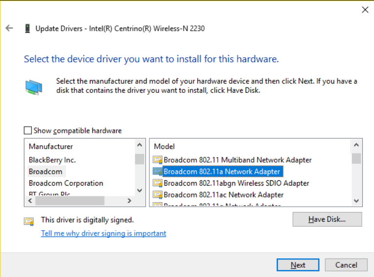 Update Network Device Drivers to solve the issue