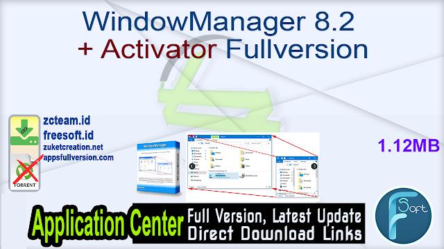 WindowManager 8.2 + Activator Fullversion