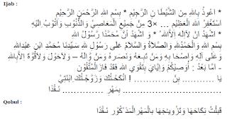 Akad Nikah (Ijab Qabul) Bahasa Arab dan Indonesia