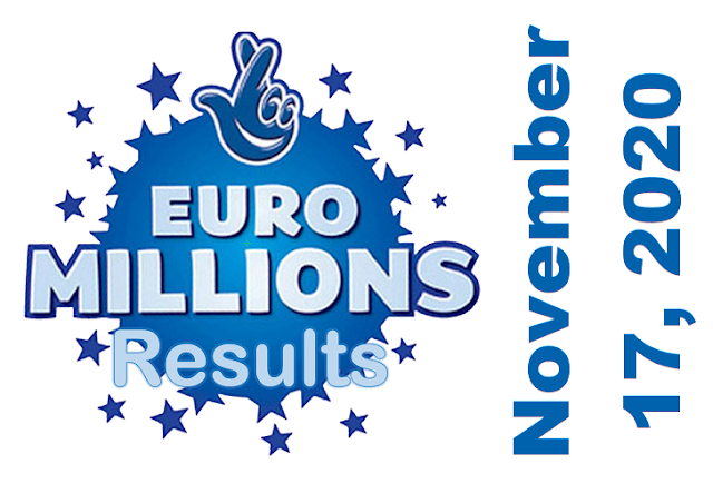 EuroMillions Results for Tuesday, November 17, 2020
