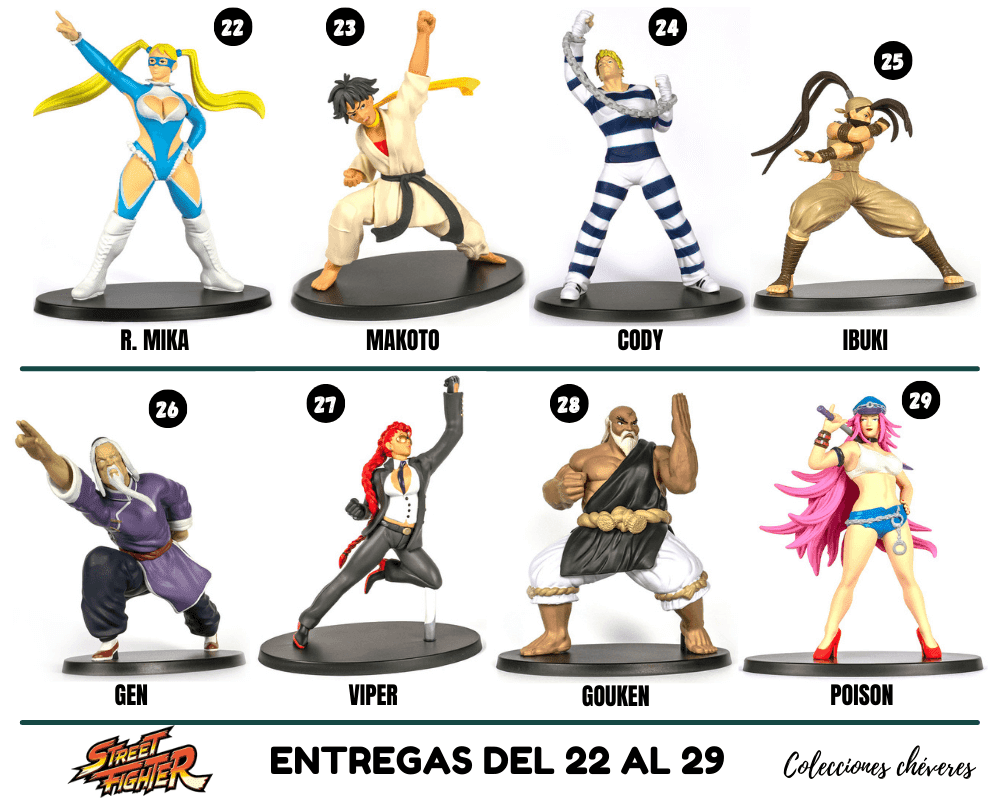 street fighter figurines collection altaya