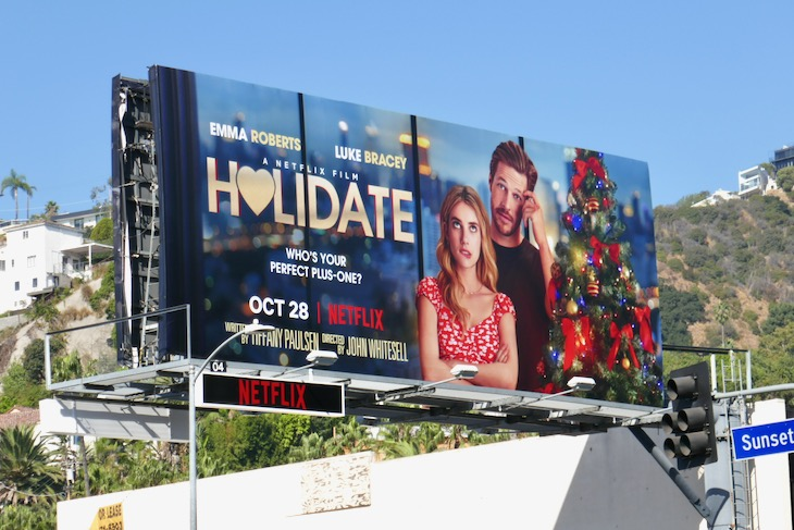 Holidate film billboard