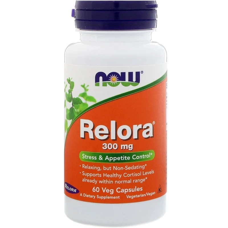 Now Foods, Relora, 300 мг, 60 растительных капсул