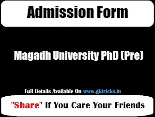 Magadh University PhD (Pre)