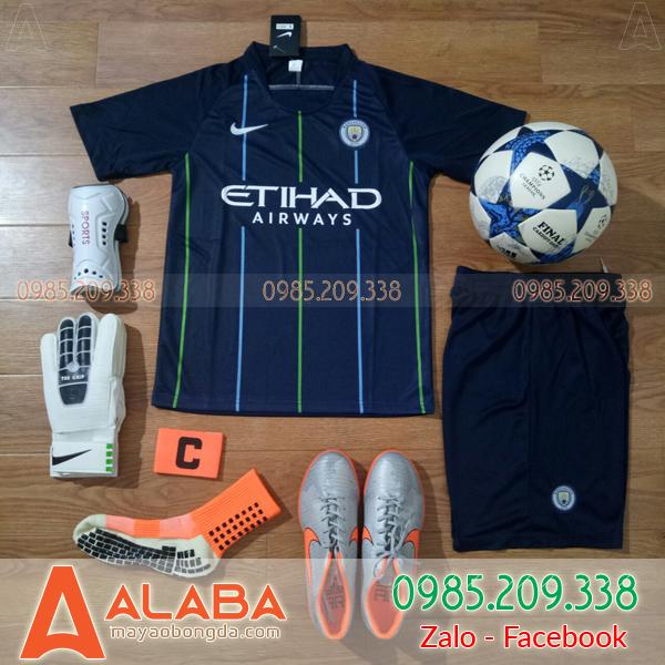 Quần áo bóng đá câu lạc bộ Man City màu đen đẹp