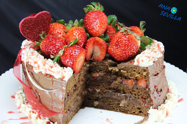 Tarta de fresas y chocolate Thermomix