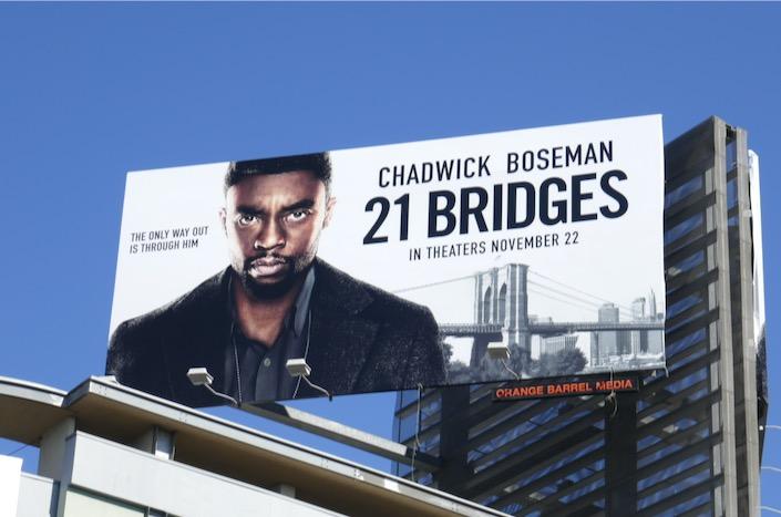 21 Bridges film billboard