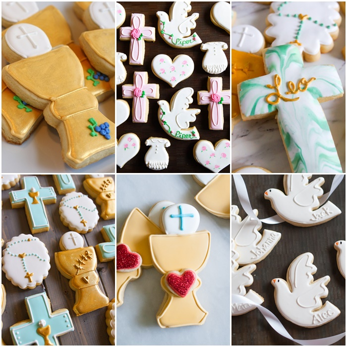 Baptism, First Communion, and Confirmation Decorated Cookies from Bake at 350
