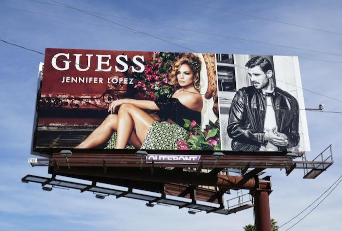 Jennifer Lopez Guess Spring 2020 billboard