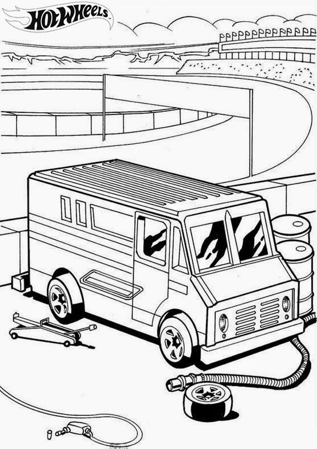 Hot Wheels Coloring Pages 22