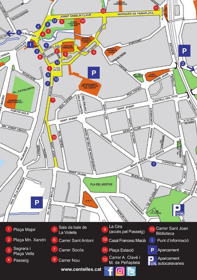Localització de la zona d'aparcament per a autocaravanes