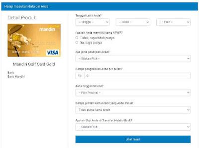 syarat kartu kredit mandiri