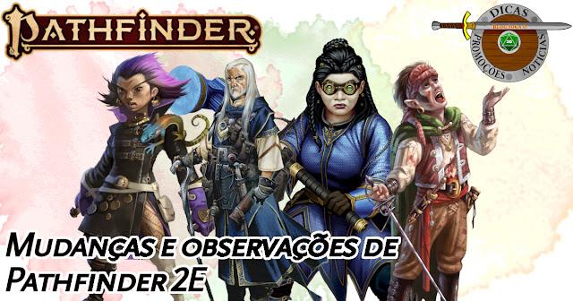Alterações Pathfinder 2E