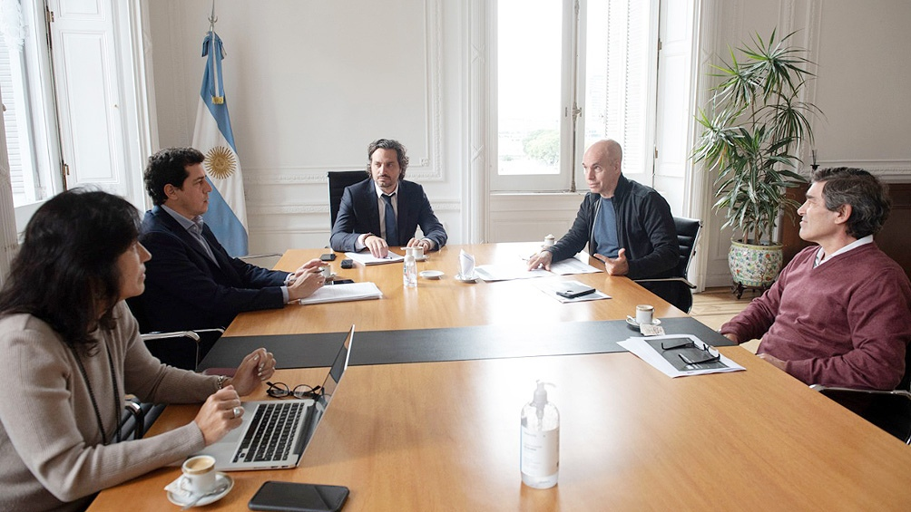 Larreta le llevó a Cafiero el pedido de liberar el take away y las obras privadas en la Ciudad
