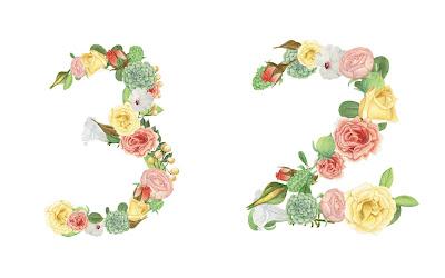A floral number 32