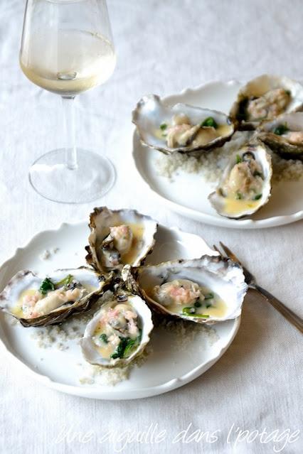 huîtres-chaudes-pochées-épinard-beurre blanc-échalote