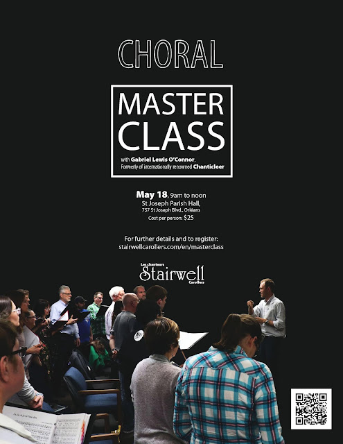Choral Masterclass poster Deadline May 15th 2019