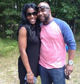 Traci Nash with her ex-husband Wanya Morris