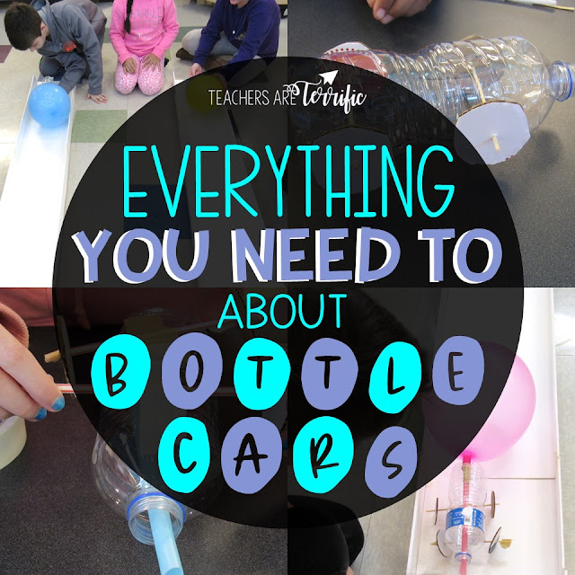 STEM Challenge- This one is about racing Bottle Cars. This will challenge your upper elementary students. #STEM #teachersareterrific #elementary