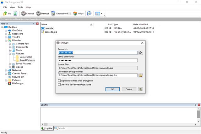تحميل برنامج تشفير الملفات والمجلدات بكلمة سر قوية File Encryption