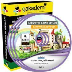 Görüntülü 8.Sınıf Türkçe Eğitim Seti 8 DVD