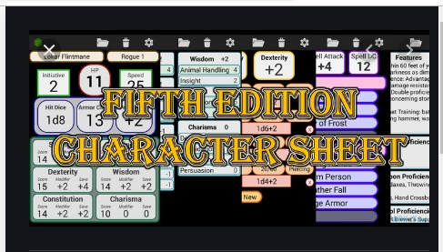 Fifth Edition Character Sheet Apk Free on Android Game Download