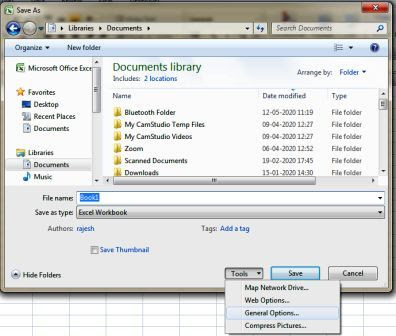 How to Protect Excel File with Password in 2007