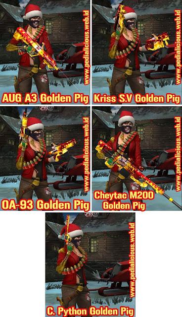 Harga & Statistik Seri Golden Pig Senjata Point Blank Zepetto Indonesia