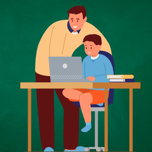 Gambar Kartun Anak Belajar di Rumah (33)